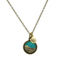 Turquoise & Gold Foil Necklace