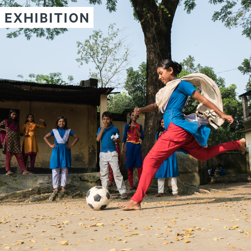 save the children football Photival exhibition