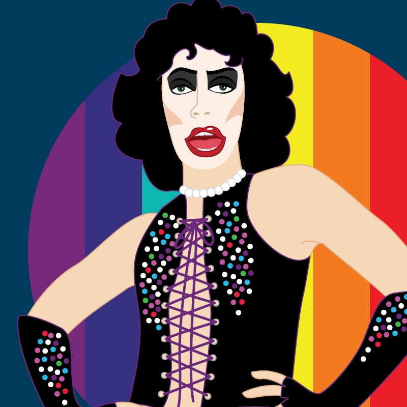 Illustration of Rocky from the rocky horror picture show